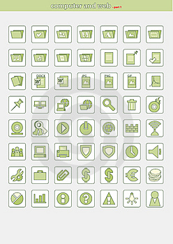 Icons_part1-border Stock Photos - Image: 9956423