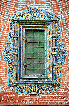 Closed Church Window With Glased Ornate Tile Royalty Free Stock Photography - Image: 9958737
