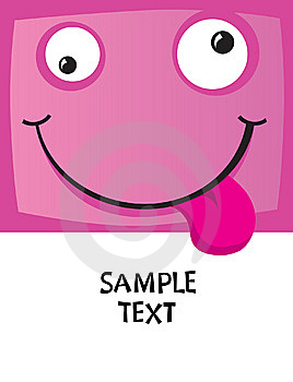 The Cheerful Character With A Smile Stock Image - Image: 9961721