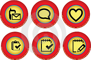 Web Icons Royalty Free Stock Photography - Image: 9964067