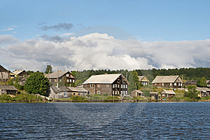 Old Russian Village Stock Photo - Image: 9965600