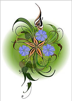 Motley flower bouquet. Vector illustration. Royalty Free Stock Photo