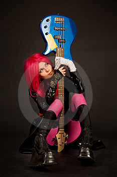 Romantic Girl With Guitar Stock Photo - Image: 9966460