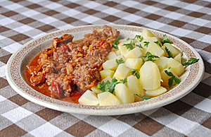 Goulash With New Potatoes Royalty Free Stock Images - Image: 9967349