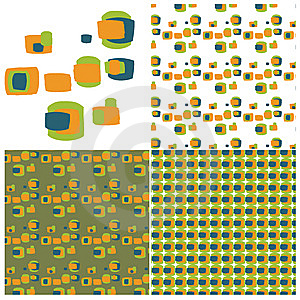 Retro Squares Swatch Set Stock Photo - Image: 9968980