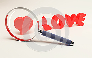Focus on Love Royalty Free Stock Photography