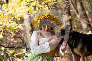Woman And Dog Royalty Free Stock Image - Image: 9978156