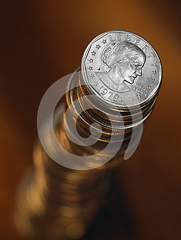 Tall Stack Of Coins Royalty Free Stock Photos - Image: 9979228