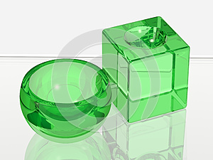 Two Glass Objects For Spa Stock Photography - Image: 9980852
