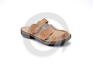 Brown Sandal Stock Image - Image: 9981061
