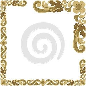 Floral Frame Baguette Retro Illustration Royalty Free Stock Photo - Image: 9981275