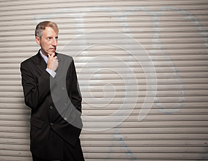 Businessman On A Grungy Background Royalty Free Stock Photo - Image: 9984185