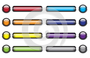 Glassy Buttons Stock Photo - Image: 9985260