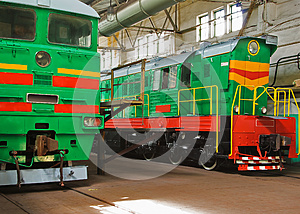 Two Old Locomotives Royalty Free Stock Photo - Image: 9986595