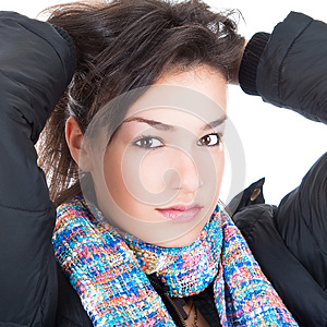 Close-up Portrait Of Sexy Caucasian Young Woman Stock Photography - Image: 9987452