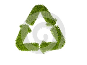 Recycling Symbol With Grass Stock Image - Image: 9987911