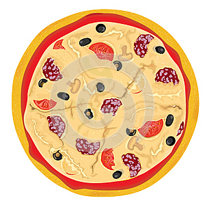 Vector High Detailed Pizza Royalty Free Stock Photography - Image: 9988037
