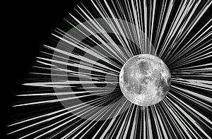 Raster Moon Illustration Stock Photos - Image: 9989573