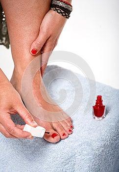 Toes With Nail Polish Royalty Free Stock Image - Image: 9990696