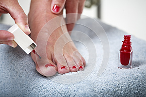Toes With Nail Polish Royalty Free Stock Photography - Image: 9990697