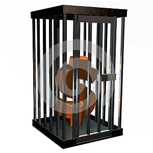 Locked Funds Royalty Free Stock Image - Image: 9991066