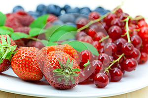 Fresh Ripe Summer Berries Background Royalty Free Stock Image - Image: 9991256