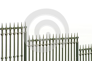 Metall Fence Royalty Free Stock Photography - Image: 9992647