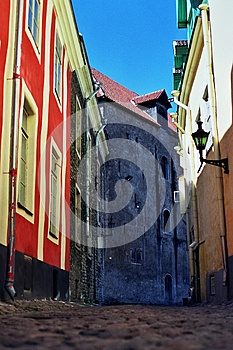 Cobbled Street Tallinn, Estonia Royalty Free Stock Photography - Image: 9993167