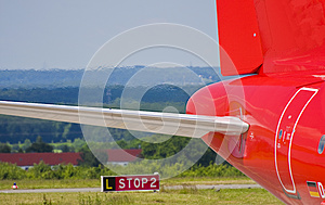 Rear Of A Plane Before Starting Stock Image - Image: 9993841