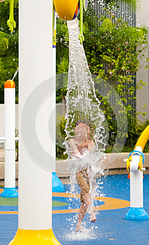Splashing Good Time Stock Images - Image: 9996194