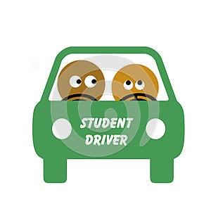 Student Driver Stock Photo - Image: 9998140