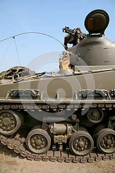 Soldier On Modern Tank Royalty Free Stock Photography - Image: 9999317